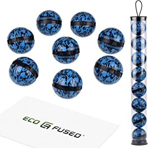 ECO-FUSED Deodorizing Balls for Sneakers, Lockers, Gym Bags - 8 Pack - Neutralizes Sweat Odor - Also Great for Homes, Offices and Cars - Easy Twist Lock/Open Mechanism - Oriental Flower