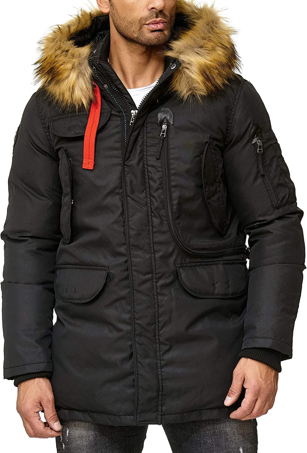 Redbridge Herren Parka Jacke Mantel Winterjacke Big Pocket