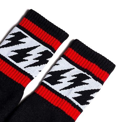 Socco firma blanco Mike Vallely del hombres Crew Calcetines Retro Skate fabricado en EE. UU