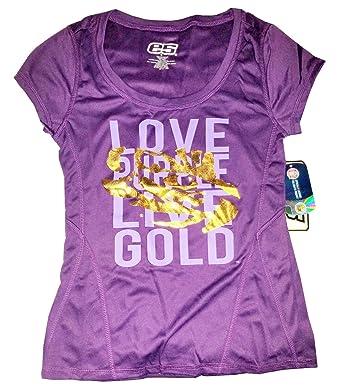 30643d31462d01 E5 College Classics LSU Tigers Love Purple Live Gold T-Shirt ...