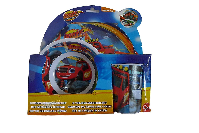 Blaze and the Monster Machine–Set Melamine 3Piece Breakfast Sin Orla (Stor) (85990)