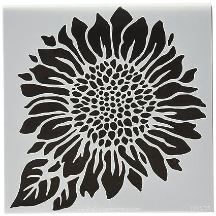 Sunflower Template | Amazon Com Crafters Workshop Tcw6x6 575 Joyful Sunflower Template
