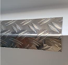 1x Winkel Riffelblech 150x150x1500mm 3,5//5mm stark QUINTETT Tr/änenblech Alu Aluminium