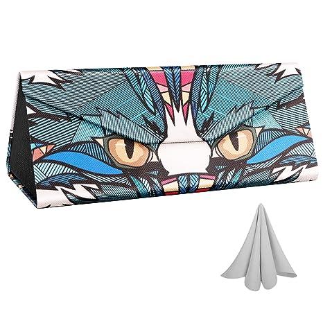 MoKo Caja de Gafas Plegable, Triangular Estuche Protectora de ...