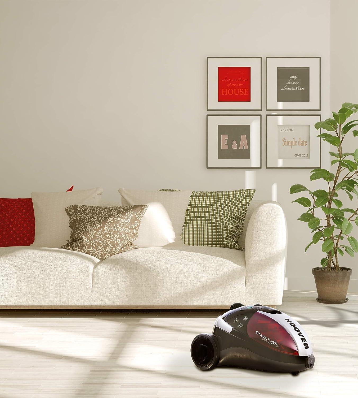 Hoover SCM1600 - Vaporeta, Potencia 1600W, 5 bares, Lista en 9min, Autonomía 30min, Capacidad 1,5L, Múltiples accesorios incluidos, Color Rojo