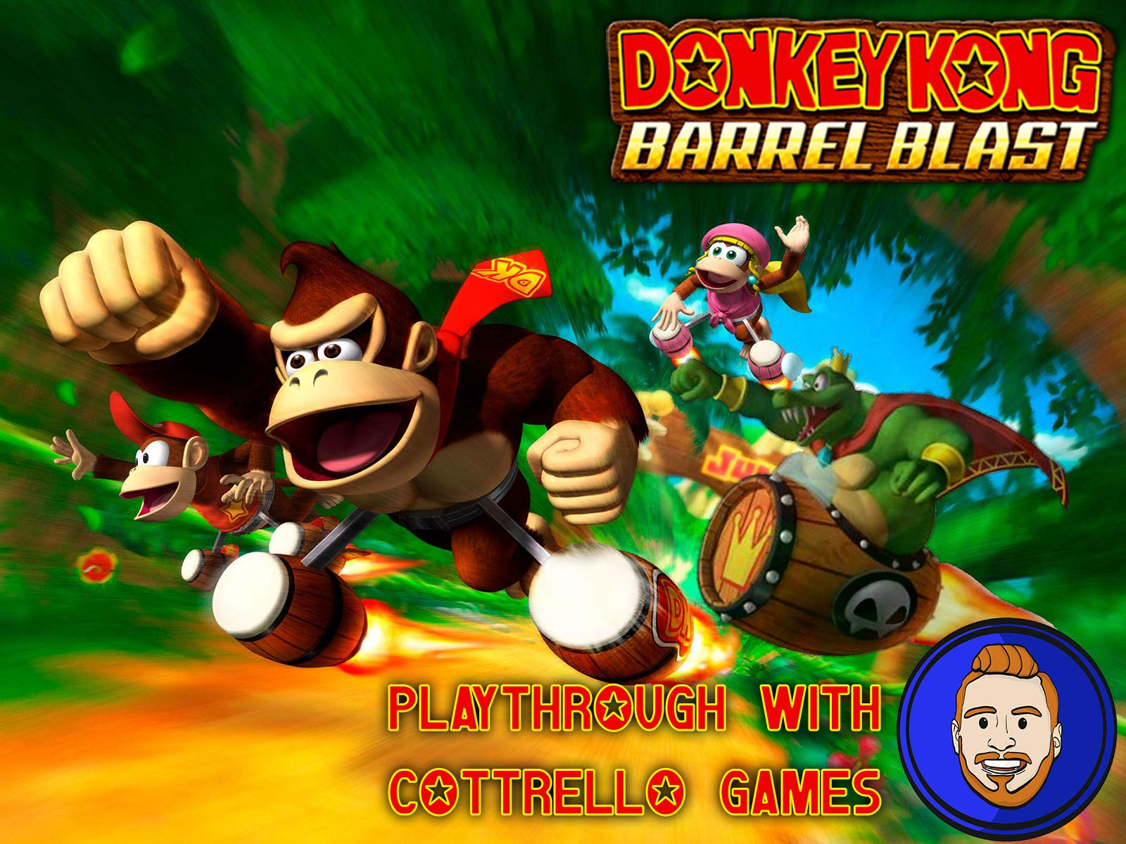 Donkey Kong Barrel Blast Playthrough with Cottrello Games