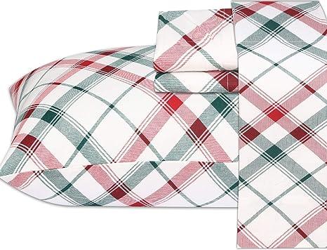 Twin Flat Sheet  Checker  Flannel Flat Sheet Pink  BlueWhite unused