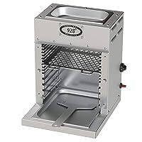 Elektrogrill 928 Grad silber Edelstahl XL Electro Grill Balkon ✔ eckig ✔ Grillen mit Elektrogrill Infrarot Oberhitze ✔ für den Tisch