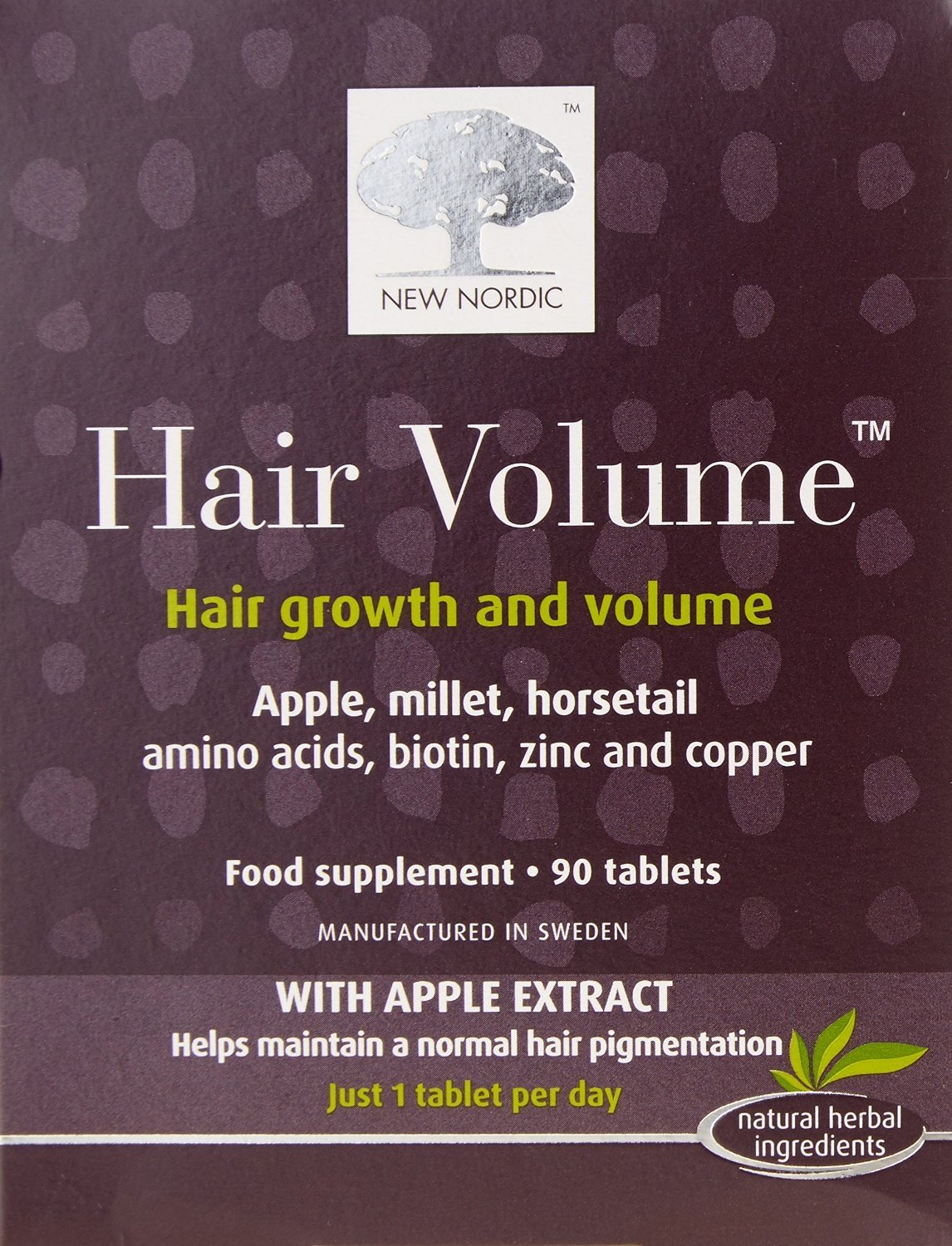 (3 PACK) - New Nordic Hair Volume Hair Tablet Supplement | 90s | 3 PACK - SUPER SAVER - SAVE MONEY
