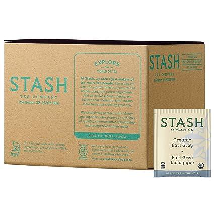 Stash Tea - Bolsas de té orgánicas, color negro y verde ...