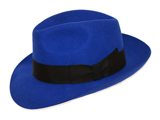 4c15d61345beb Men s Royal Blue Wool Trilby Fedora Hat  Amazon.co.uk  Clothing