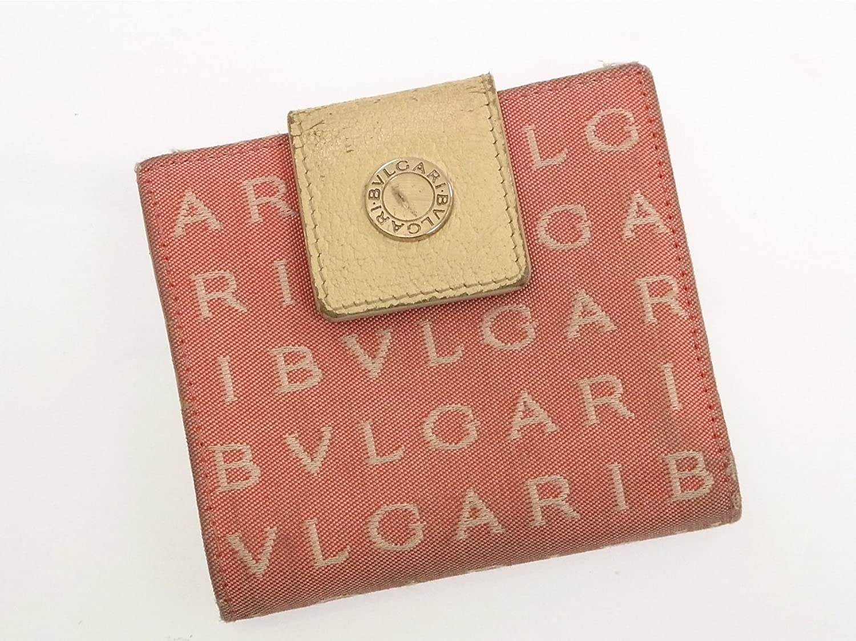 [ブルガリ] BVLGARI 二つ折り財布 ロゴマニア キャンバス×レザー X10376 中古 B01BV362G0