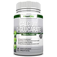 Calcium D-Glucarate - 500mg - 120 Vegetable Capsules - Superior Potency To Support...