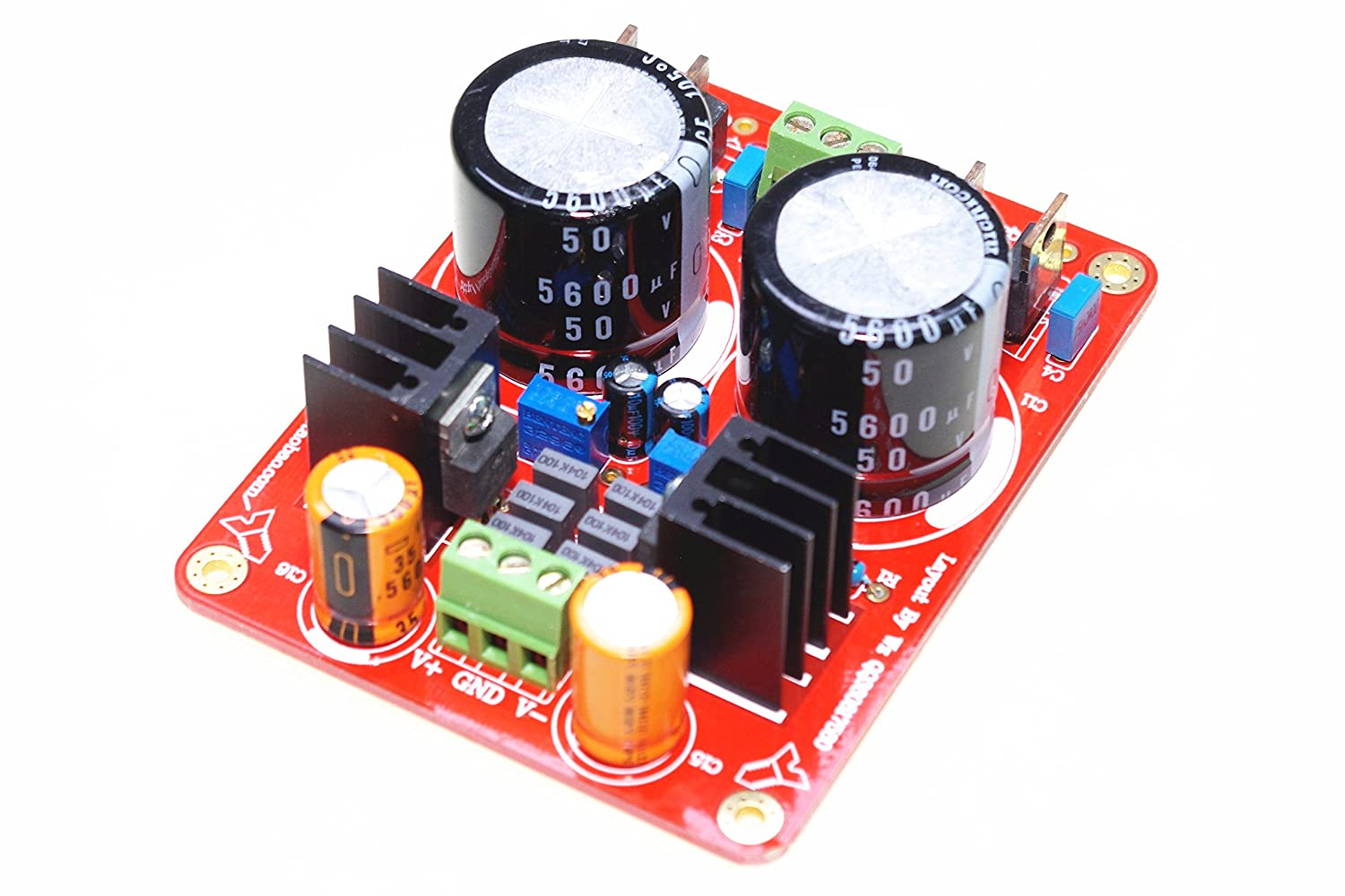 Smakn Lm317 Lm337 Adjustable Regulated Power Supply Using Lm 317 Electronic Circuits And Diagram Board W Short Capacitance Automotive