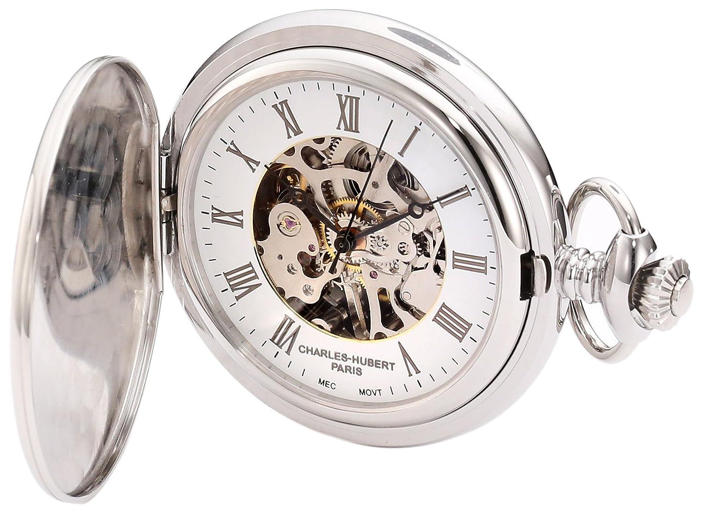 CDM product Charles-Hubert, Paris 3929 Premium Collection Stainless Steel Mechanical Pocket Watch big image
