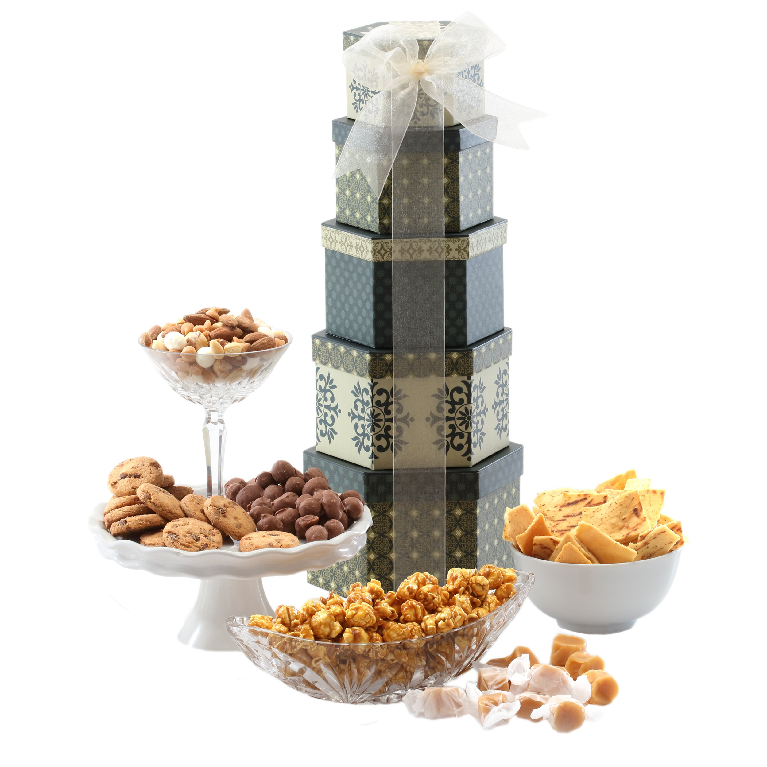 Amazon gourmet peanut assortment in 5 tier tin tower with broadway basketeers token of appreciation gift tower negle Image collections
