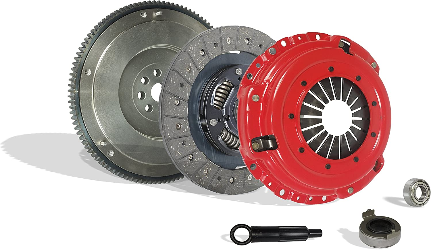 Flywheel Spec: .112+; Stage 1 Clutch With Flywheel Kit Works With Acura Integra Civic Si Del Sol Cr-V Gs Ls Ex Lx Type R Gs-R VTEC Special 1994-2001 1.6L L4 1.8L l4 GAS DOHC Naturally Aspirated