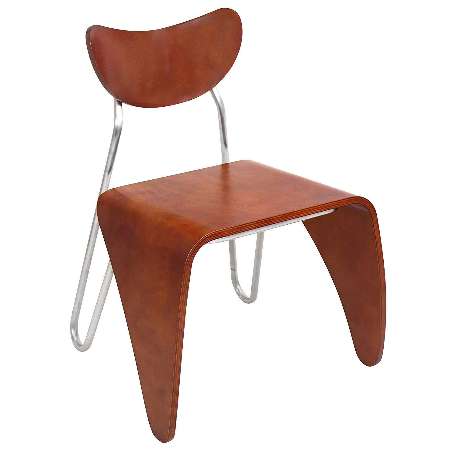LumiSource Toro Accent Chair - Walnut