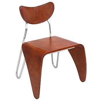Lumisource Toro Contemporary Chair, Walnut
