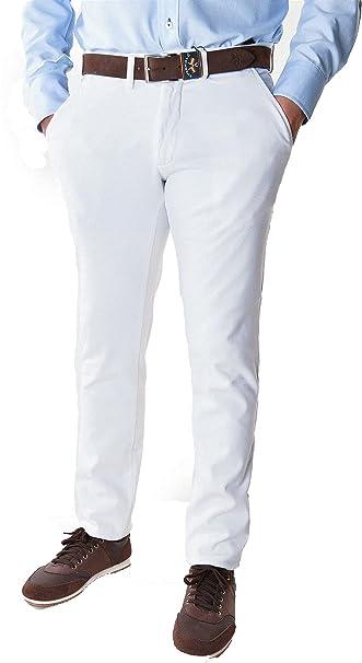 Spagnolo Pantalon Chino Slim Gabardina Elastico 0688: Amazon ...