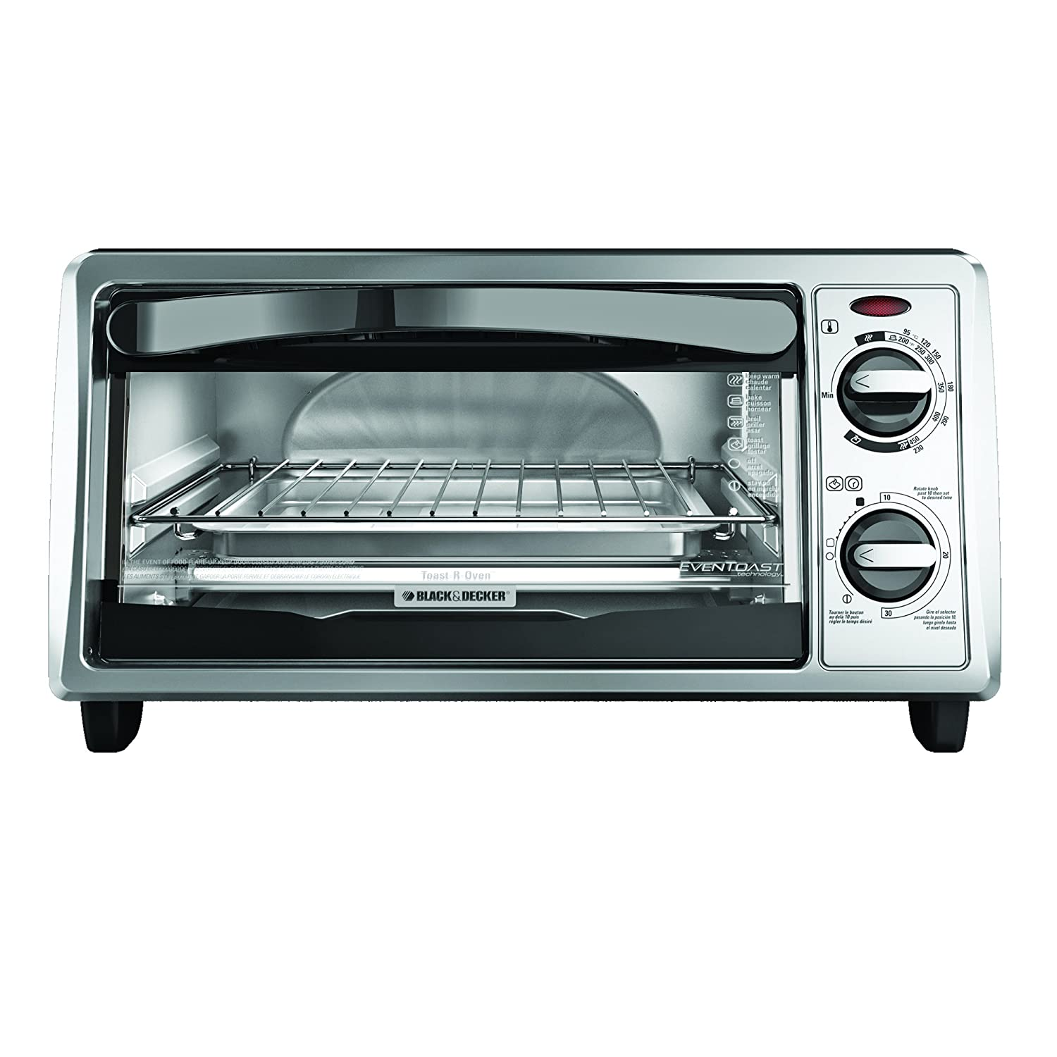 black decker for toaster com amazon oven dining slice dp kitchen silver sale