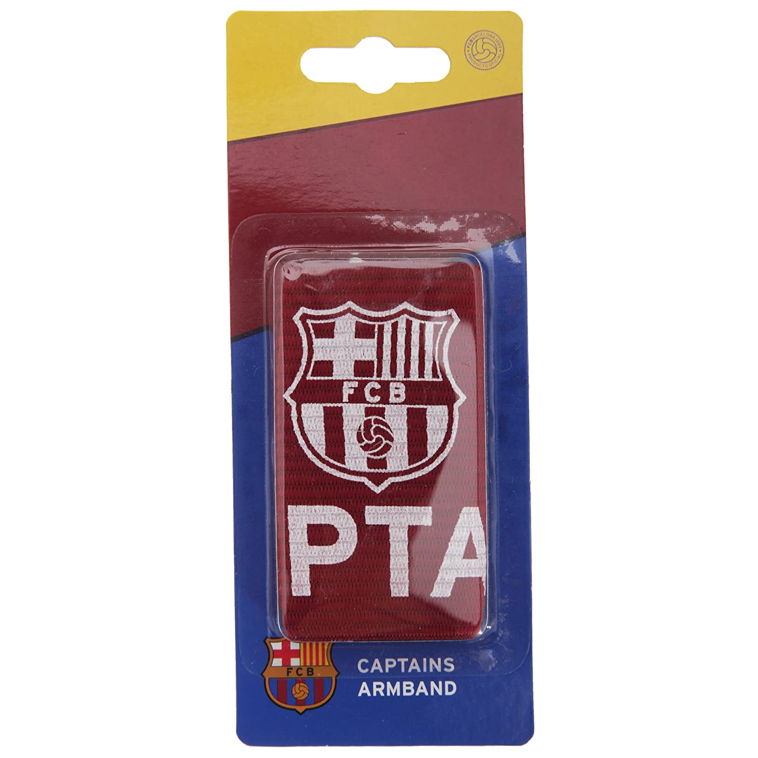 FC Barcelona Official Captains Football Crest Sports Armband (One Size) (Burgundy/White) UTSG3019_1