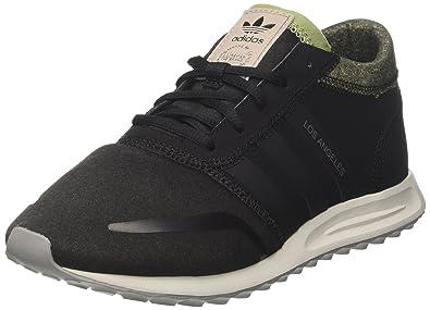 size 40 91949 9e184 adidas Los Angeles Mens Trainers Black Olive - 7 UK
