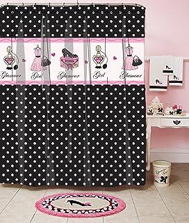 Homewear Glamour Girl Polka Dot Printed Shower Curtain