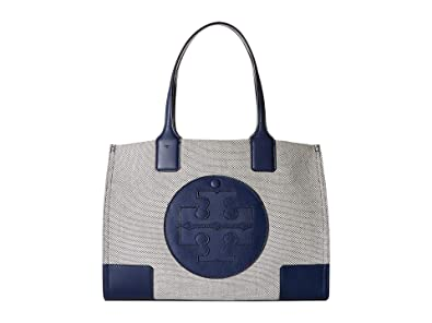 485c6d8ac886 Image Unavailable. Image not available for. Color  Tory Burch Women s Ella  Canvas Tote Navy Handbag Mini