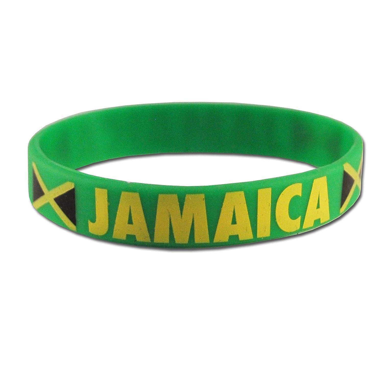 5 x JAMAIQUE bracelets silicone pour coupe de monde les olympiques etc/…