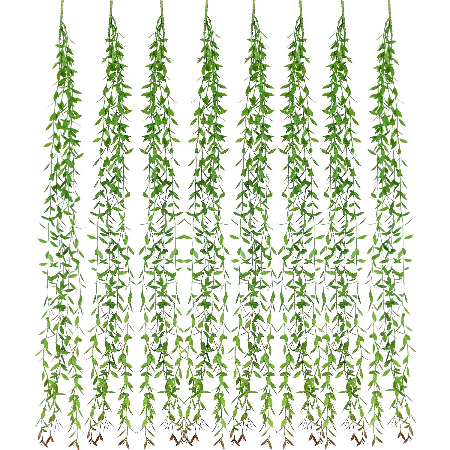 Artiflr-Artificial-Vines-Fake-Greenery-Garland-6-Pcs-Willow-Leaves-with-Total-30-Stems-Hanging-for-Wedding-Party-Garden-Wall-Home-Decoration