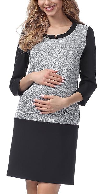 Vestido Corto Elegante de Lactancia Maternidad