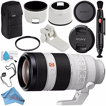 Sony FE 100-400mm f/4 5-5 6 GM OSS Lens SEL100400GM + 77mm UV Filter + Lens  Pen Cleaner + Fibercloth + Lens Capkeeper + Deluxe Cleaning Kit Bundle