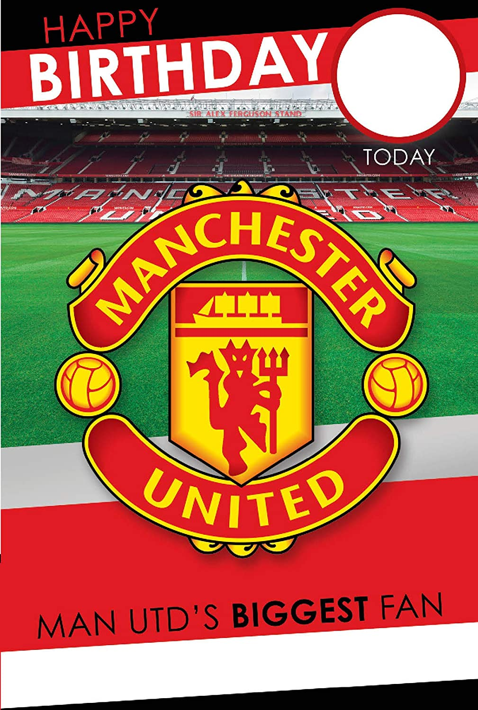 no1 fan Manchester United F.C Anniversaire Card