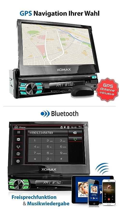XOMAX XM-VA707 Radio de Coche con Android 7.1.1, GPS, 7