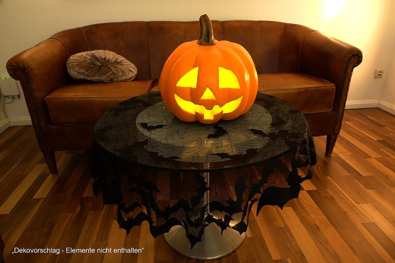Fledermaus Tischdecke rund 1,1 Meter Durchmesser Hallowee Deko wunderschön