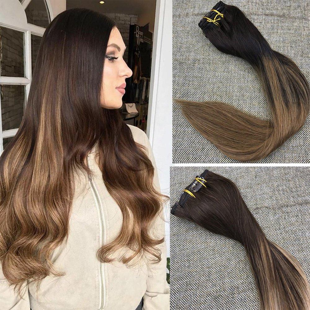 Amazon Full Shine 18 120gram 10 Pcs Balayage Clip In Hair