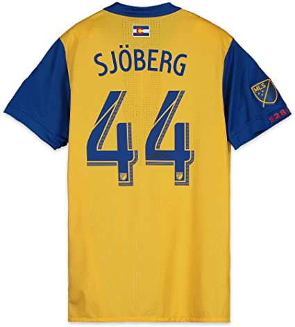 21827b27b7a Image Unavailable. Image not available for. Color: Axel Sjoberg Colorado  Rapids Autographed Match-Used Yellow #44 Jersey from the 2018 MLS