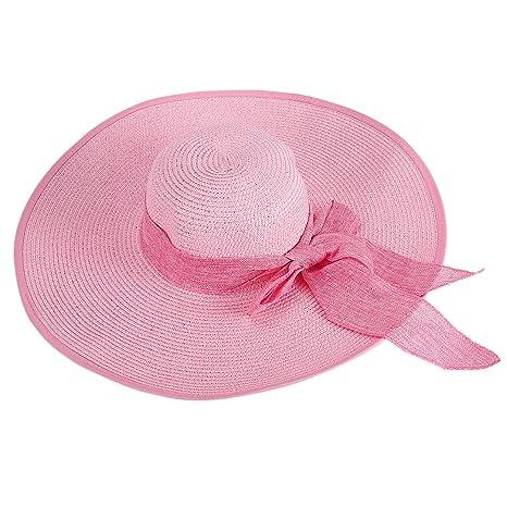 TININNA Donne Elegante Pieghevole Bowknot Cappello Tesa Larga Floscio  Protezione Solare Protezione UV Cappello di Spiaggia 2e5332ad40b7