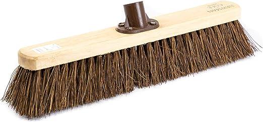 Newman and Cole - Cabezal de escoba de madera de repuesto para cepillo de jardín al aire