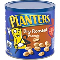 Planters Peanuts, Dry Roasted & Salted, 52 Ounce Canister, Pack of 2