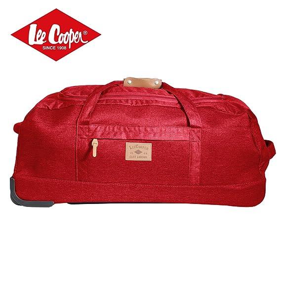 Ensemble Sacs de voyage rouge à roulettes - 1 x 80cm + 1 x 50cm - Lee Cooper 0wdVVLYH