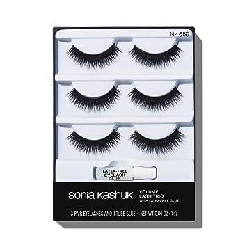 963bd82b72c Amazon.com : Sonia Kashuk Volume False Eyelashes Trio 3 Pair, pack of 1 :  Beauty