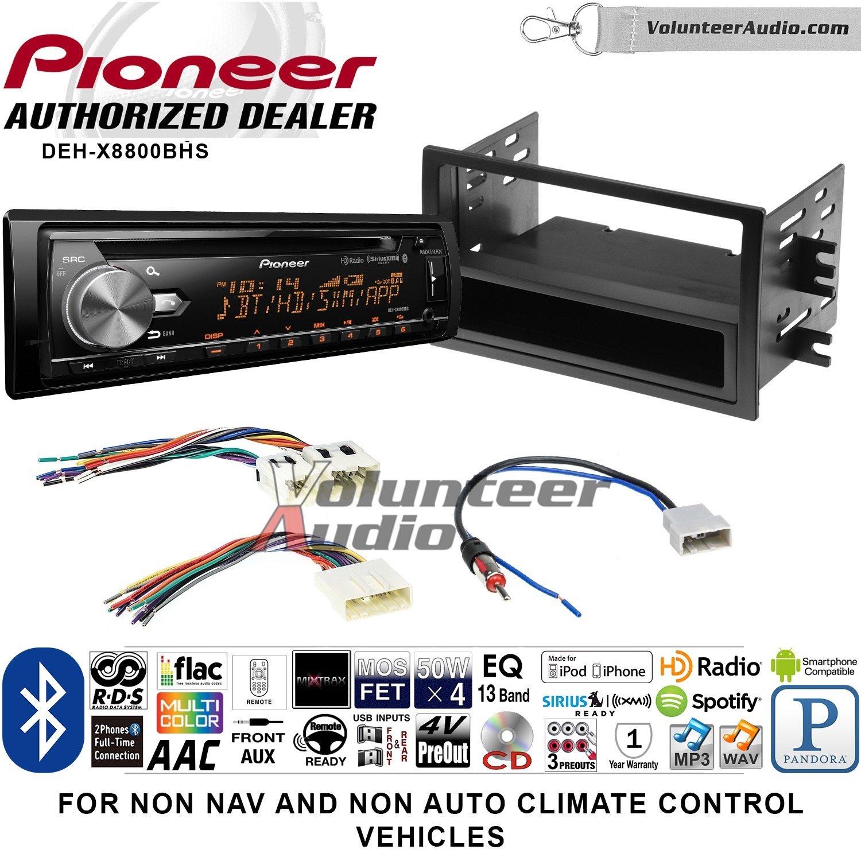 ボランティアオーディオパイオニアdeh-x8800bhsダブルDINラジオインストールキットwith Bluetooth、HDラジオ、Siruis XM準備、USB/AUX Fits 2008 – 2012 Nissan Titan (手動A/Cコントロール) B07D3GFT7S