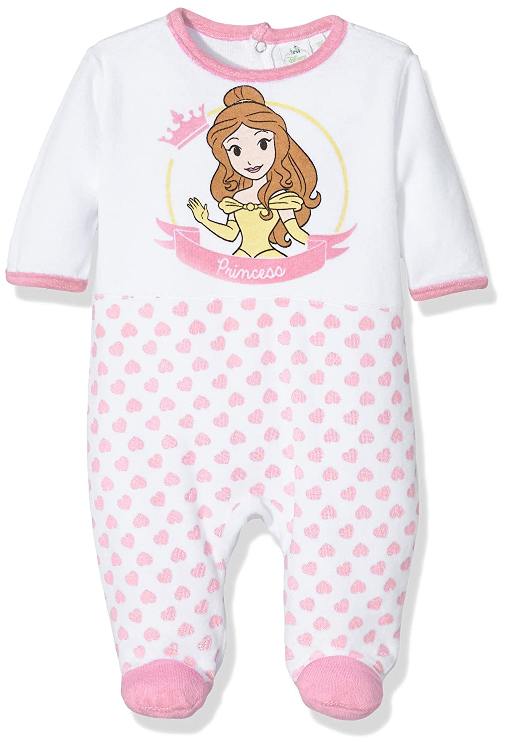 Disney Baby Girls Princess Bg Sleepsuit HO0378