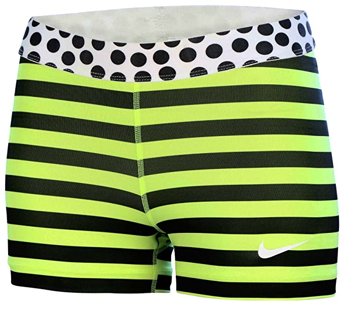 Clothing, Shoes & Accessories Womens Nike Pro Dri Fit Shorts Size Medium Yellow Black Women's Clothing