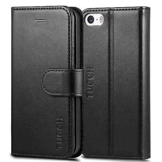 136 opinioni per Custodia iPhone SE, Cover iPhone 5s, TUCCH Custodia in Pelle, [GARANZIA DI