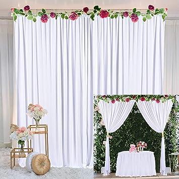 Amazon.com: Cortina de telón de fondo para fiestas, bodas ...