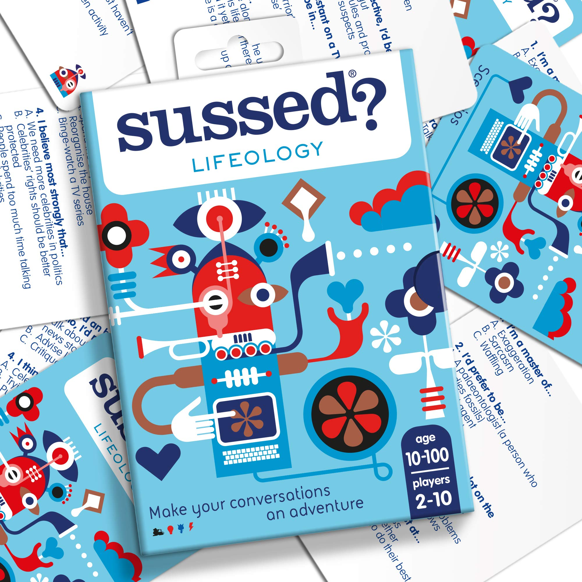 SUSSED - 220 Conversation Starters : A Quiz About Who Knows Who Best [ A Card Game for Video Calls with Friends and Family ] [ Lifeology Starter Deck ]
