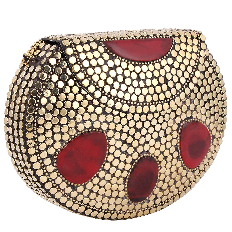 Wonderlist Handicrafts portatovaglioli in rame martellato per matrimoni, cene, feste, o uso quotidiano, set di 6, peso 40grams, diameter-1.5inch peso 40grams diameter-1.5inch